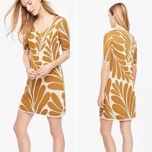 Ann Taylor Shimmer Leaf Petal Sweater Dress (XST)
